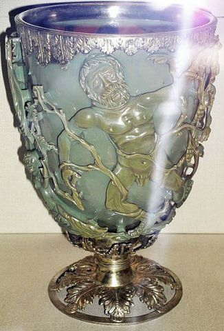 The Lycurgus Cup -- Green (Photo by Johnbod/Creative Commons via Wikimedia)