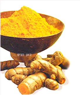 The turmeric root and ground turmeric (curcumin): image via thecamreport.com