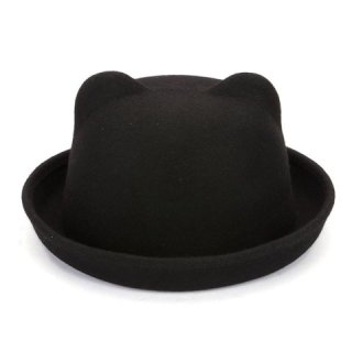 cute womens fashion bowler hat with ears