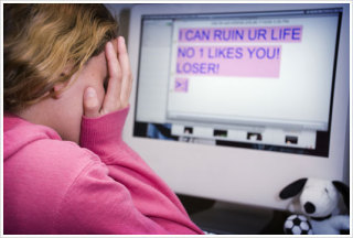 Cyberbullying can have very debilitating effects on a child.: image via k9webprotection.net