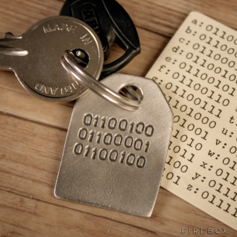 Binary Dad Key Ring