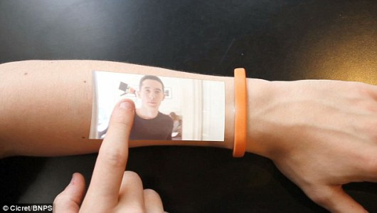 Cicret Bracelet Touchscreen: Source: DailyMail