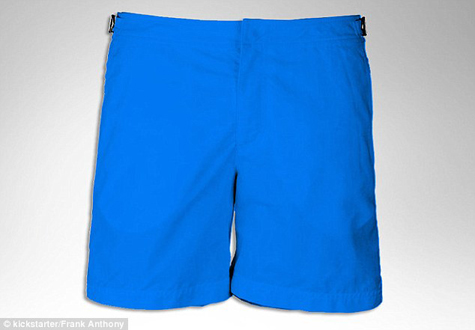 Frank Anthony Blue Trunks: Source: dailymail.co.uk