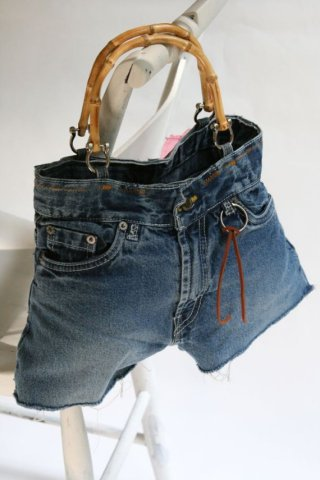 "Recycled Jeans Purse Named Windy: By ""NotYoMommasHandbag"""