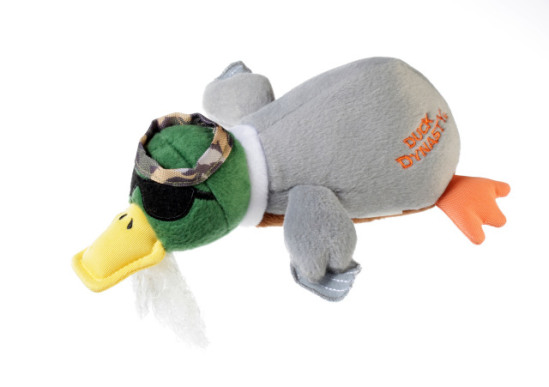 Duck Dynasty 'Phil' Duck Dog Toy: image via Quaker Pet Group