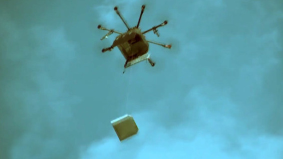 Drone Pizza Delivery (You Tube Image)