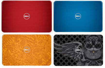 A few of the possible customizations, from Dell's site.