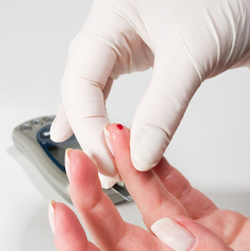 Now, diabetes patients have to endure the pain of needles to get readings of their blood glucose levels: image via 1st-in-diabetessupplies.blogspot.com