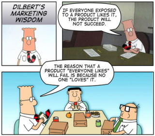 Dilbert Cartoon on Marketing