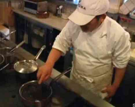 Chef Toshio Tanube Prepares Soil Soup (You Tube Image)