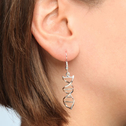 DNA Earrings: image via thinkgeek.com