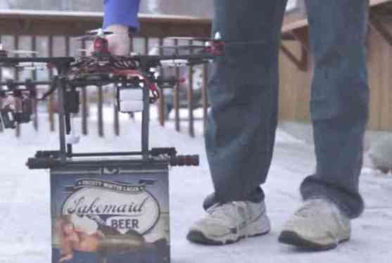 Drone Beer Delivery Ready for Take Off (You Tube Image)