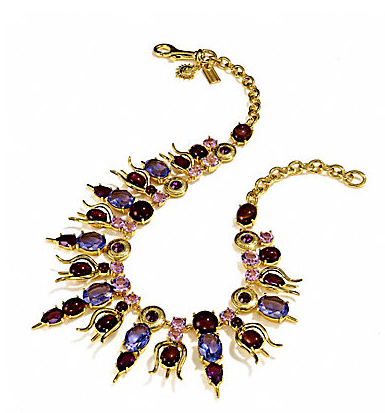 Coach Mermaid Bib Stone Necklace: Exclusive limited edition from the Tony Duquette Coach Collection