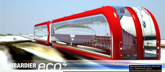 Inter Urban Eco Train designed by Fancisco Lupin:  Francisco Lupin
