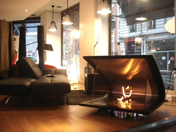A trendy take on the EcoSmart Fireplace