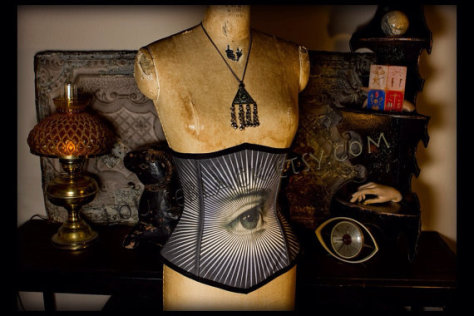 The All-Seeing Eye Corset: Source: Etsy.com