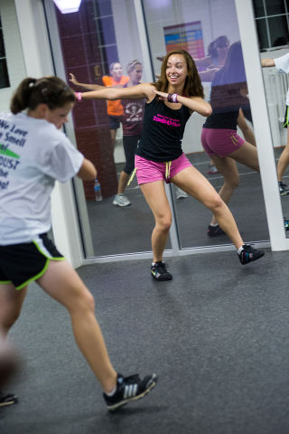 Zumba Aerobic Workout (Photo by roanokecollege/Creative Commons via Wikimedia)