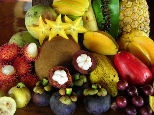 Exotic fruits and berries...: image via trifter.com