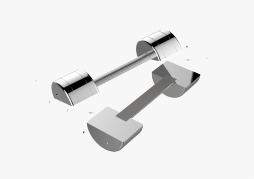 Traditional Dumbbell Cut In Half