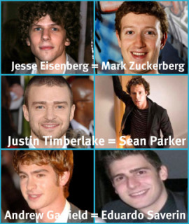 "Cast of ""Social Network"""