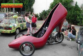 Hot Red Heel Car