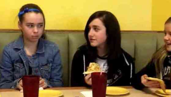 "Abbey shuns pizza while out with friends in ""You Are Beautiful"" (You Tube Image)"