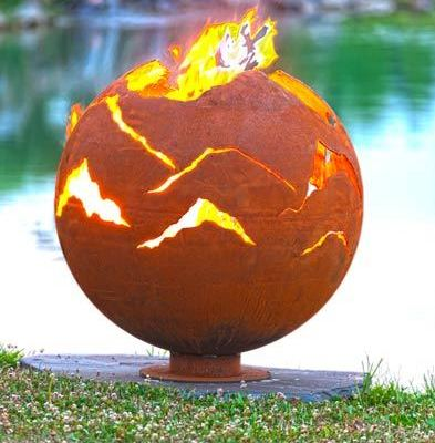 """Alpenglow"" Fire Pit by Melissa Crisp"