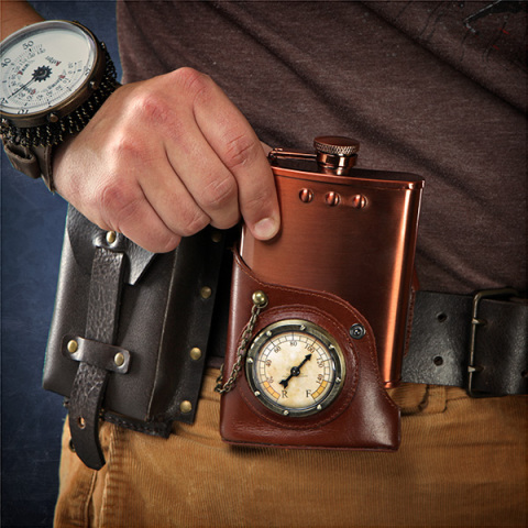 Capt. Jules' Everlasting Steampunk Flask