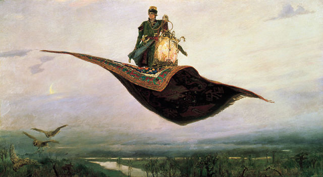 The Flying Carpet, oil painting by Viktor Vasnetsov.