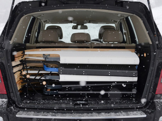 Folding Sled In The SUV