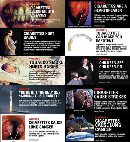 Cigarette graphics from non U.S. countries: image via nydailynews.com