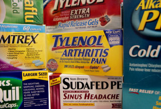 Acetaminophen is an ingredient in dozens of over-the-counter drugs: image via paleodiethouston.wordpress.com