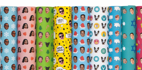 Custom Wrapping Paper With Your Face Or The Likeness Of Someone Else For Gift Giving: Gift Wrap My Face image via GWMF Facebook