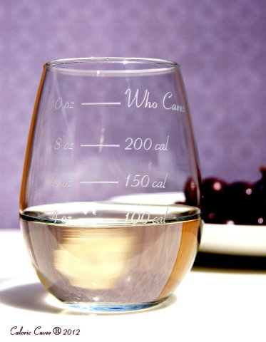 Stemless Calorie Counting Wine Glass