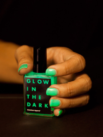 One of the more realistic glowing manicures.