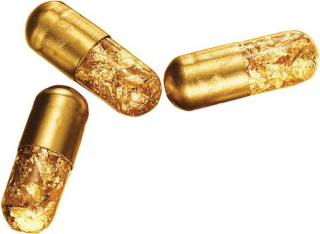 Gold Pills to Fleck Your Precious Poop (You Tube Image)