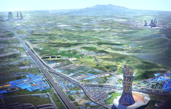 A Green City in Nanjing, China is Projected to be the World's Largest Green Development Yet: Image via CK Designworks