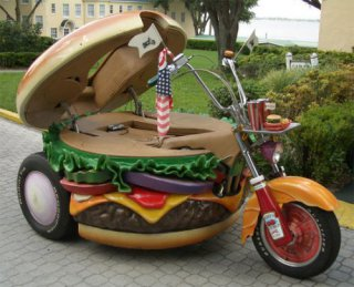 Hamburger Harley: image via slipperybrick.com