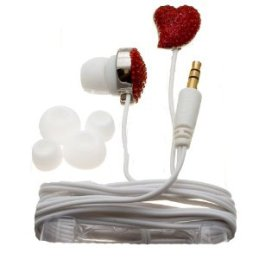 Nemo Digital Crystal Pave Twisted Heart Earbuds