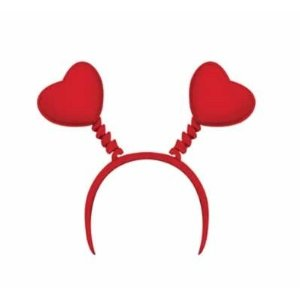 Valentine's Day Red Heart Head Boppers Headband