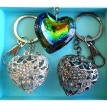 Three Heart Keychain Gift Set