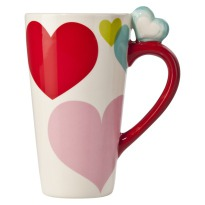 Tall Multi Heart Latte Mug