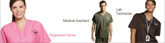Hospital heros in Cintas EcoGeneration Scrubs: © Cintas