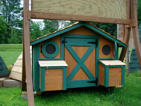 Hobbit Hole Chicken Coop -- Rear View