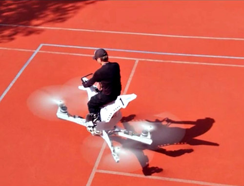 It's a drone! It's a motorcycle! No, it's a Hoversurf hoverbike!: Hoversurf hoverbike image via Hoversurf Inc.