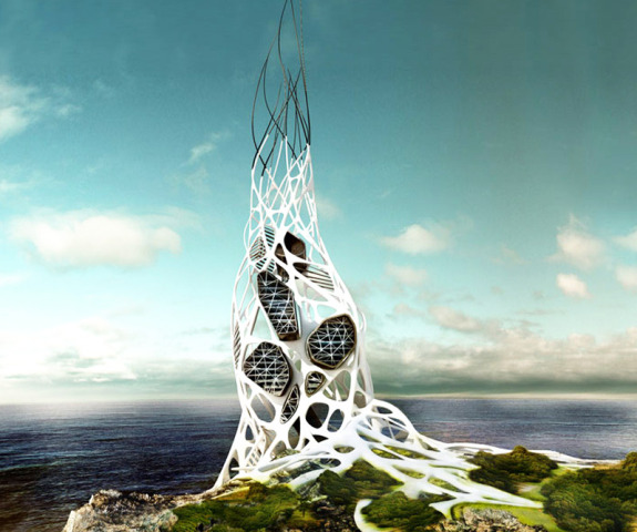 "Hydra Tower Won and ""Honorable Mention"" at the 2011 Evolo Skyscraper Competition"