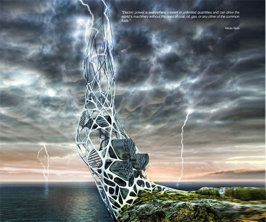 The Hydra Tower: Harnesses Hydrogen From Lightning