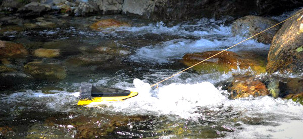 The Hydrobee works off of hydro power as well as sun and kinetic energy