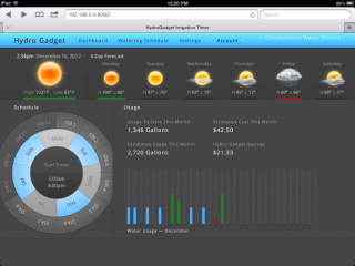 Hydrogadget Dashboard: Hydrogadget Web Dashboard