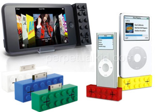 iPod Building Block Speakers: Colorful iPod accessories